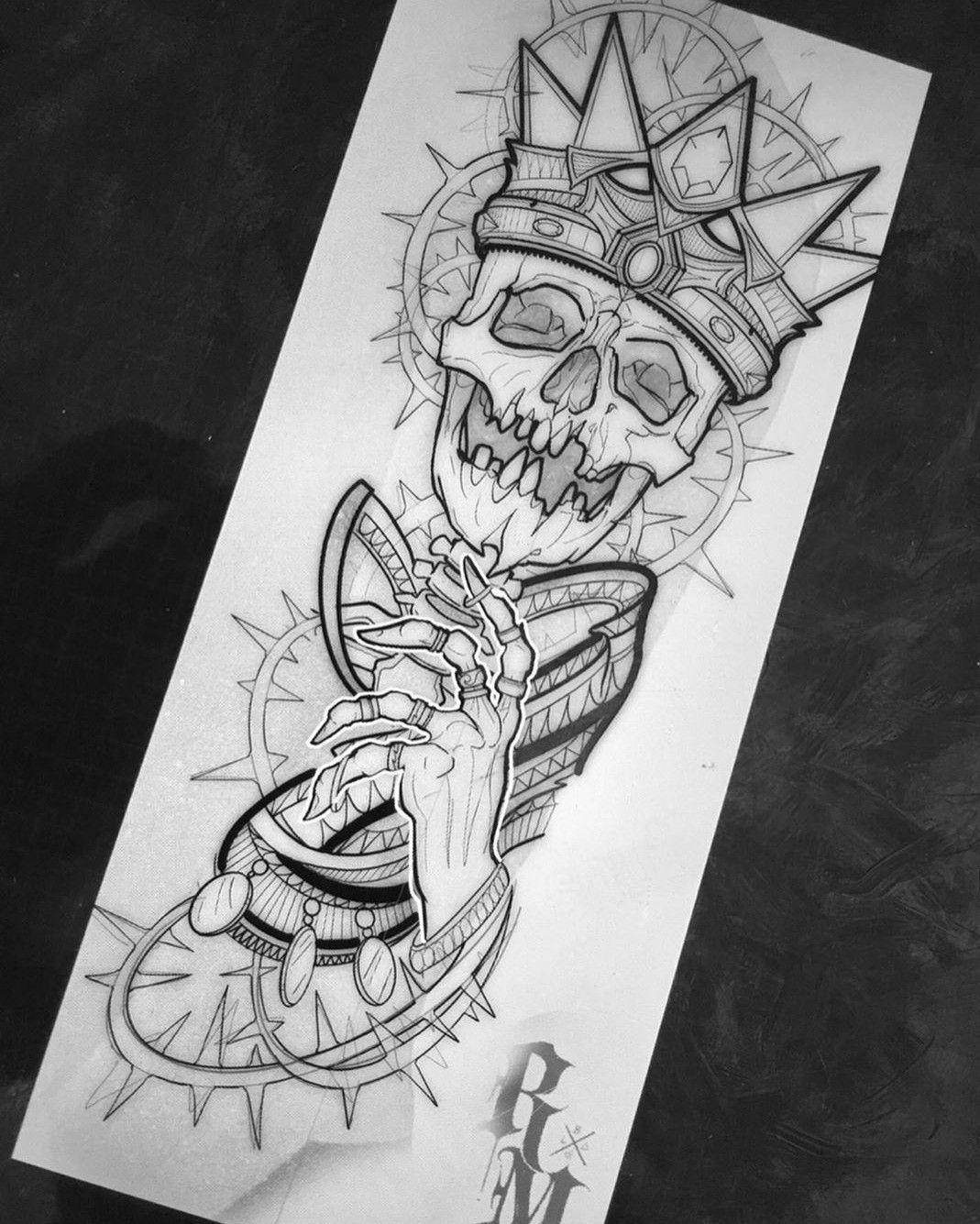 King Of Bones Em 2020 Desenho Para Tatuagem De Caveira Tatuagem Inicial Desenho Tatuagem