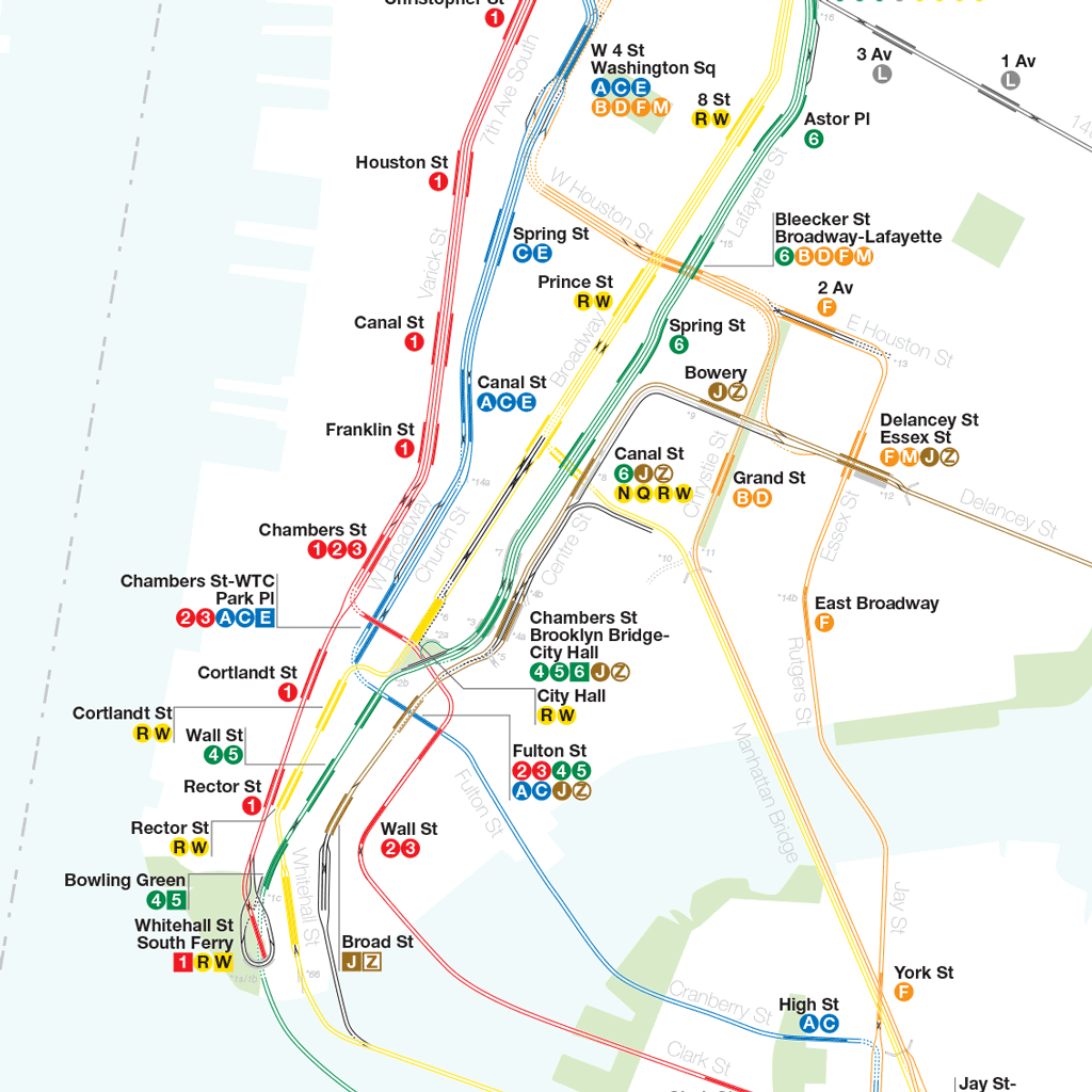 Nyc Subway Map 1 Train.A Complete And Geographically Accurate Nyc Subway Track Map Nyc