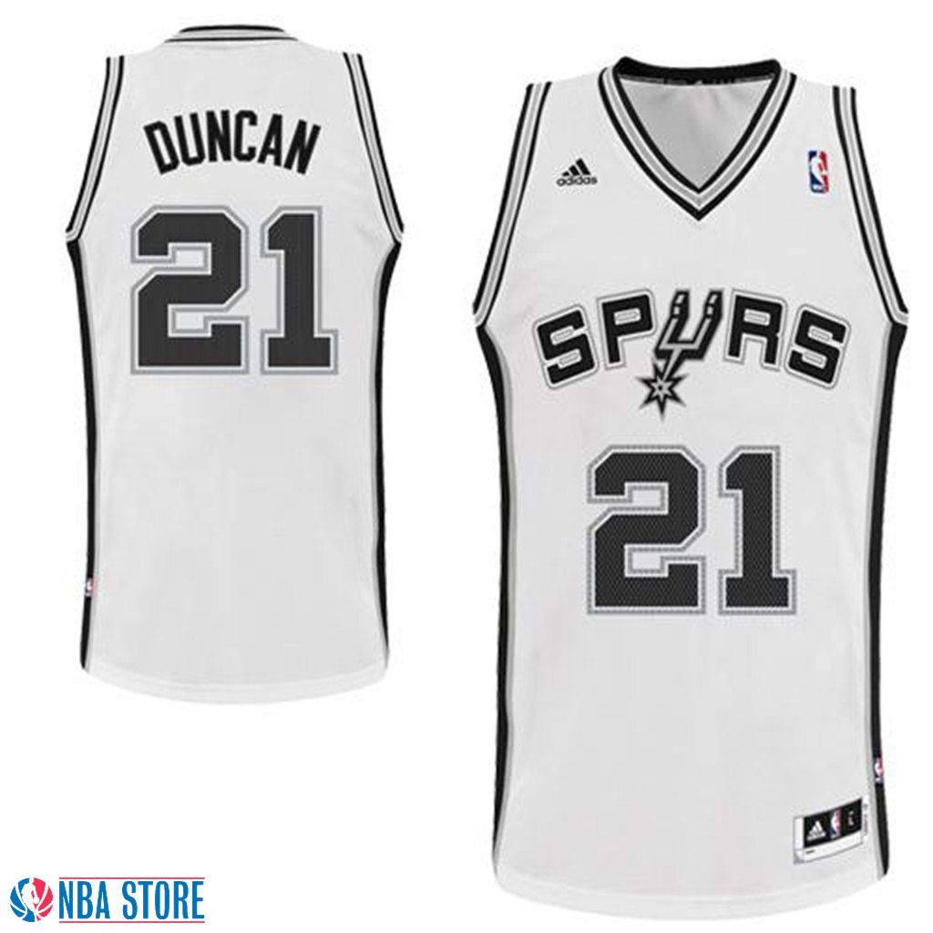 3a0fad418 Tim Duncan San Antonio Spurs  21 Revolution 30 Swingman Jersey-White ...
