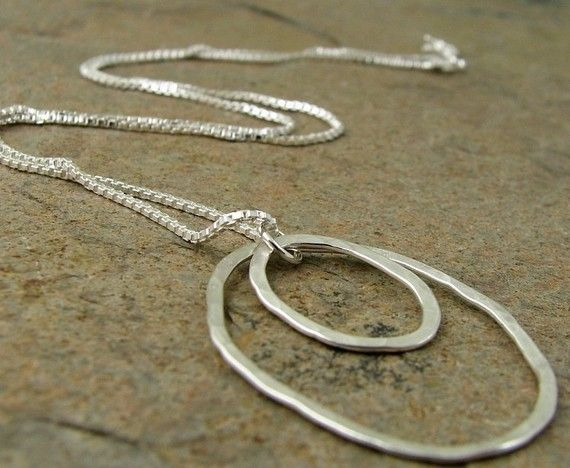 Hammered silver necklace sterling silver abstract circle pendant hammered silver necklace sterling silver abstract circle pendant modern contemporary silver jewelry aloadofball Choice Image