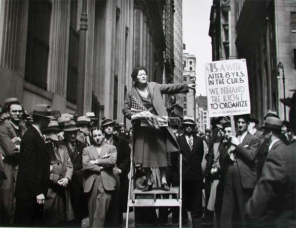 Carl Mydans A Pioneer Organizer Of The Office Workers' Union. Wall Street and Broad Street. New York (1936)