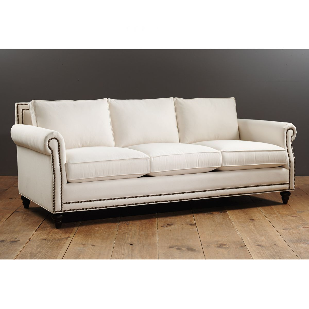 Mason Sofa with Brass Nailheads