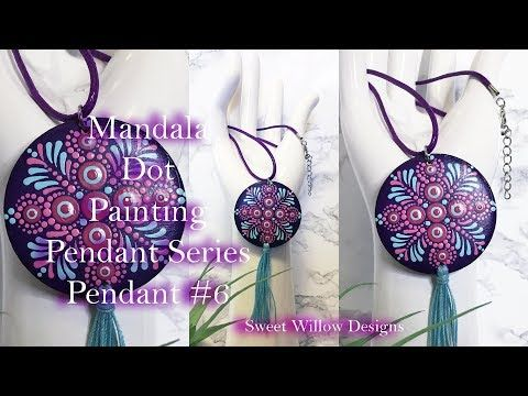 How to Paint Dot Mandalas #055 Pendant Series #6 Let's Use Some Power Tools with Tassel - YouTube