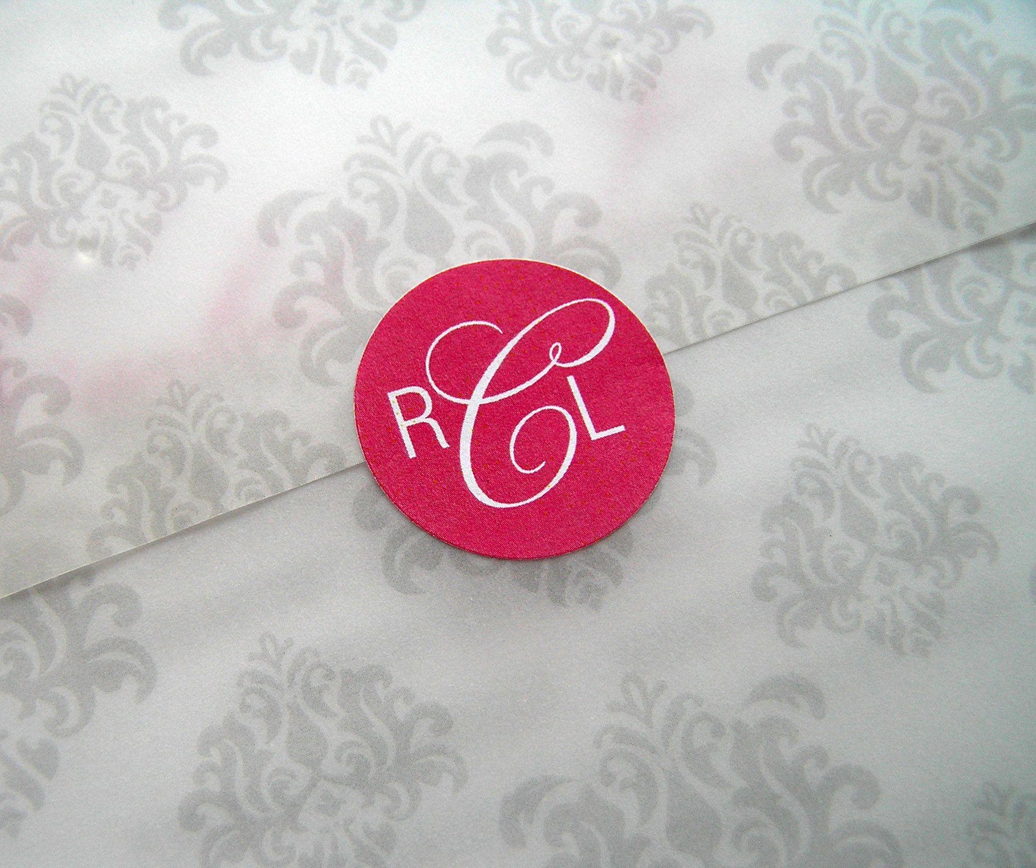 Monogram for Wedding Invitation www.cameleon-design.ca