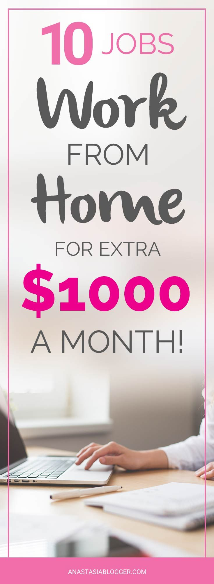 Work From Home Jobs for Extra $1000 a Month in 2018! Ideal For Stay ...