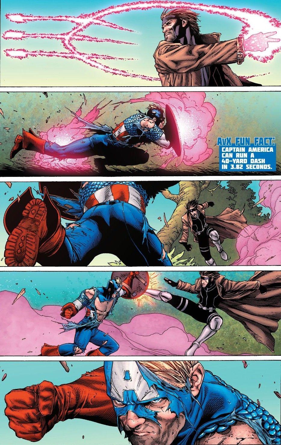 Gambit Vs Captain America Avx Vs 2 Marvel Comic Character Gambit Marvel Superhero Comic