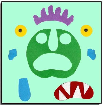 Here Is One Template For Go Away Big Green Monster By Ed Emberley