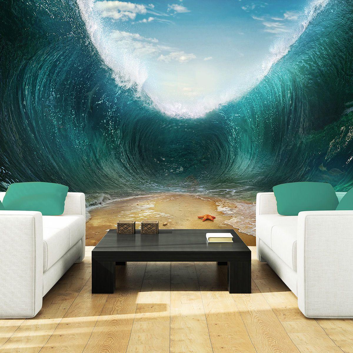 Foto Poster Wandbild Tapeten Fototapete Wasser Meer Natur
