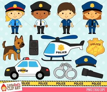 Police Clipart Police Stickers Art For Kids Police