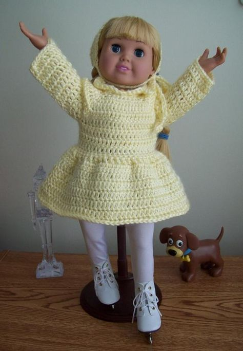 This is a free crochet pattern for the American Girl or 18 inch doll ...