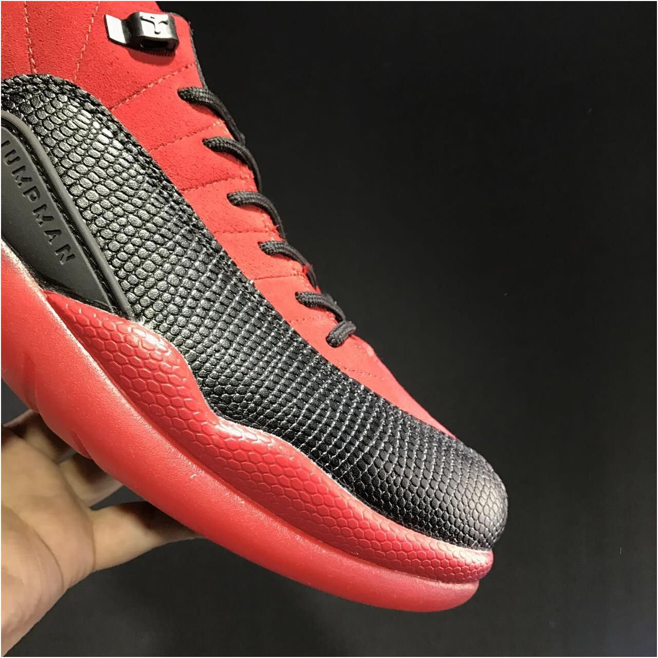 finest selection 9e6a9 62d3a Nike Air Jordan Retro XII 12 Low Red Black Men Shoes 3083171 ...