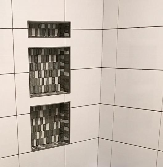 Tile Redi Redi Niche 16 In X 20 In Triple Niche Set In Black Rnt1620du 14 The Home Depot In 2020 Recessed Shelves Bathroom Upgrades Shower Wall