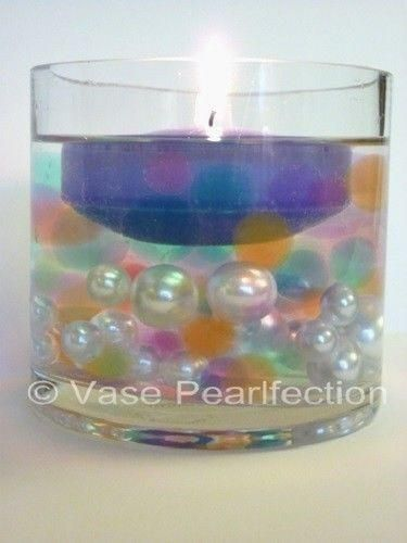 Transparent Water Gels Blue Water Gels Color Accents for Floating Pearls Look