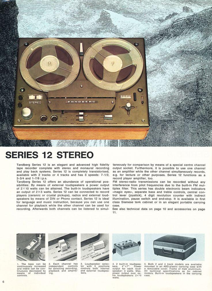 1967 Tandberg Brochure Featuring The Tandberg Model 6x The
