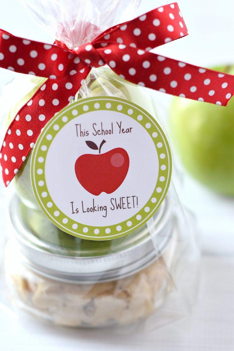 Caramel Apple Teacher Gift Idea Teacher Candy Gifts Apple Teacher Gifts Teacher Gifts