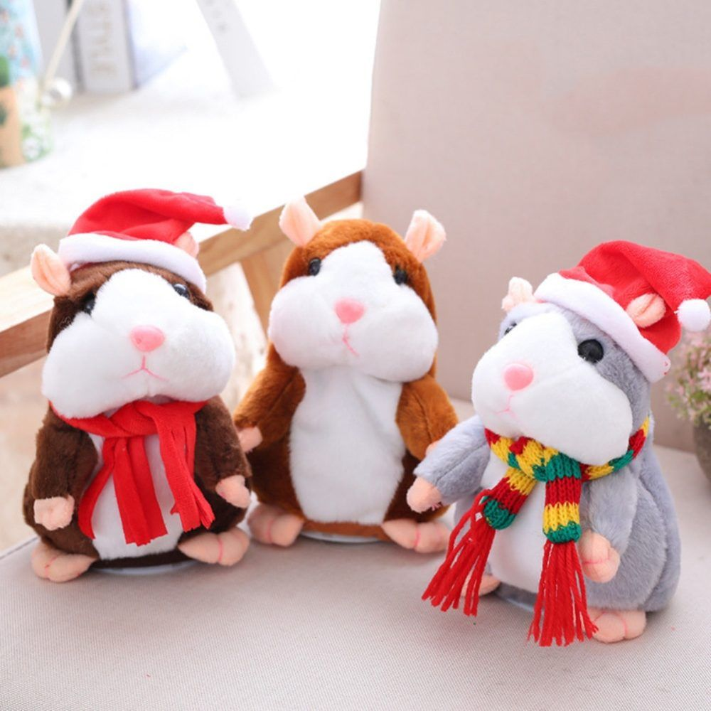 Electric Cute Plush Mimicry Pet Animal Toy Repeating Mouse Talking