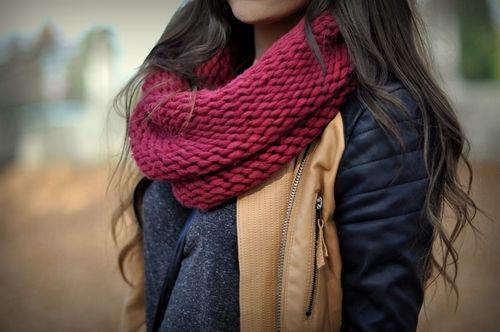 fall colors in clothing. love the jacket and the scarf
