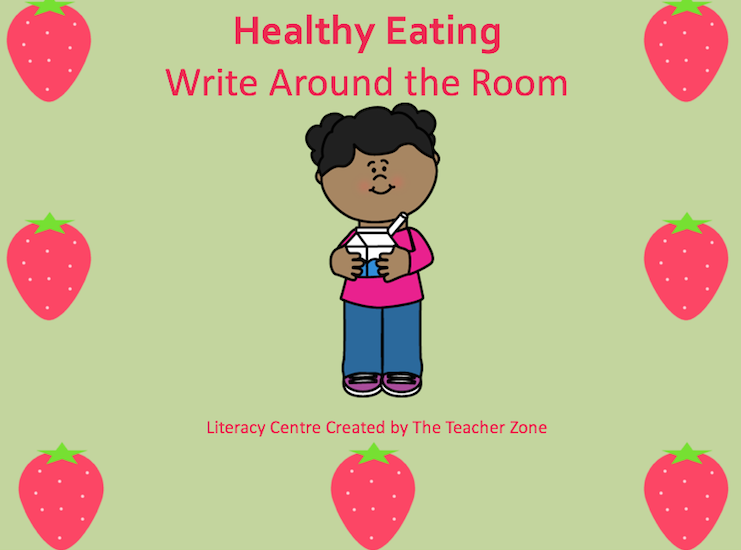 Write around the room for health. Focuses on healthy eating. Great for kindergarten and primary grades. https://www.teacherspayteachers.com/Store/The-Teacher-Zone