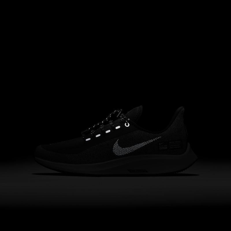 a8917ac03b2c Nike Air Zoom Pegasus 35 Shield Younger Older Kids Running Shoe - Black