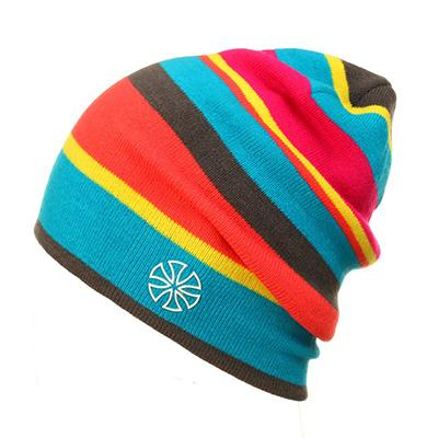 Men Women LGBT Pride Rainbow Skull Hat Beanie Cap Winter Knit Hat Cap