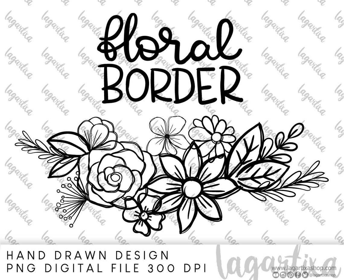 His Grace Is Enough Floral Doodles Clipart Png Art Hand Etsy Floral Doodle Clip Art Free Flower Clipart