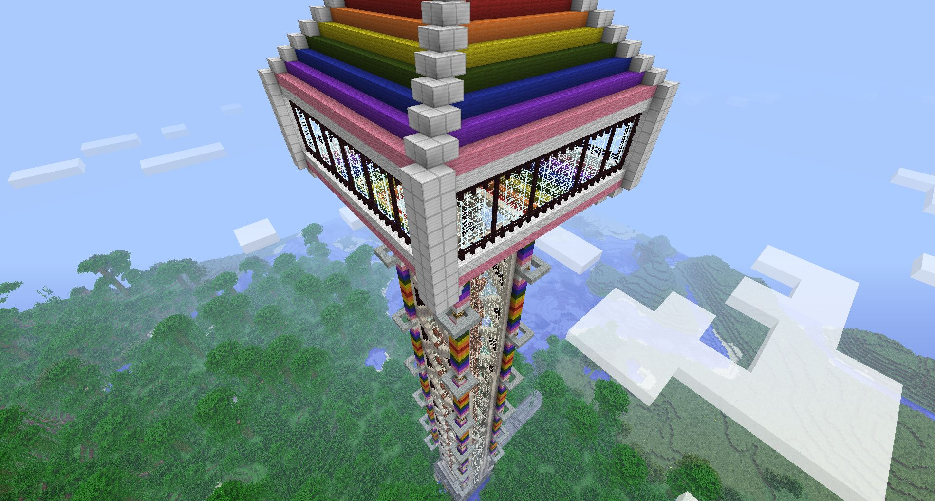 Cool thing to build in minecraft when bored and follow me if u ...
