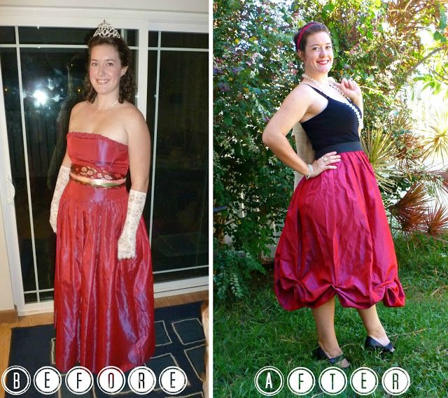 Prom Dress Refashion. Never going to look at an ugly prom dress in a ...