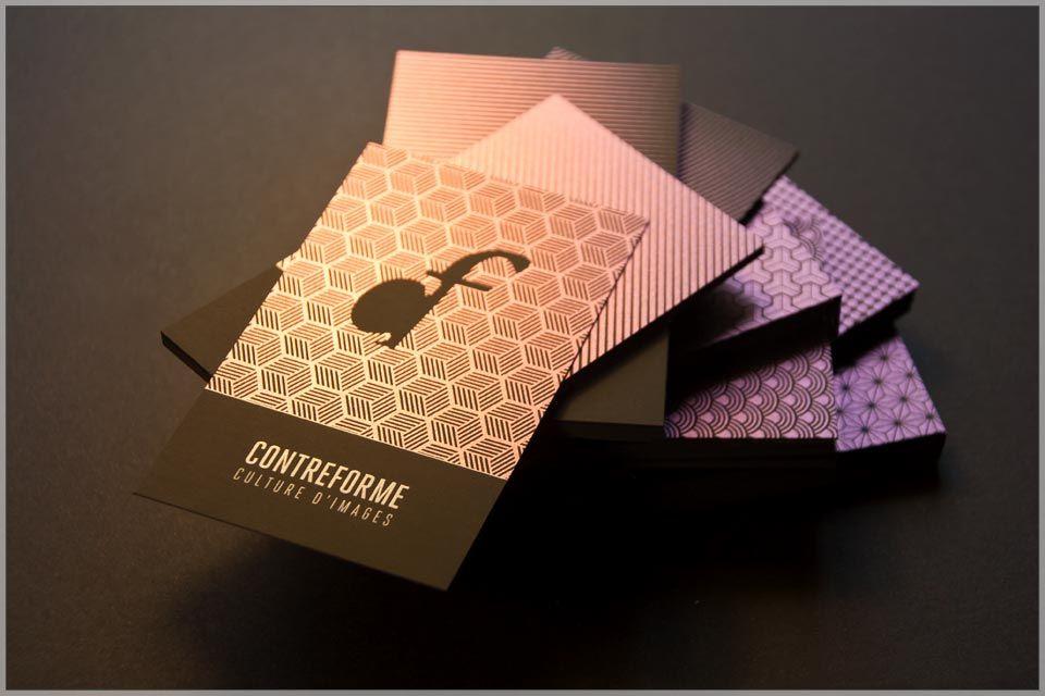 Contreforme Cartes Srigraphie Blanche Et Iridescente Sur Papier Anthracite Photos David Rossetti By