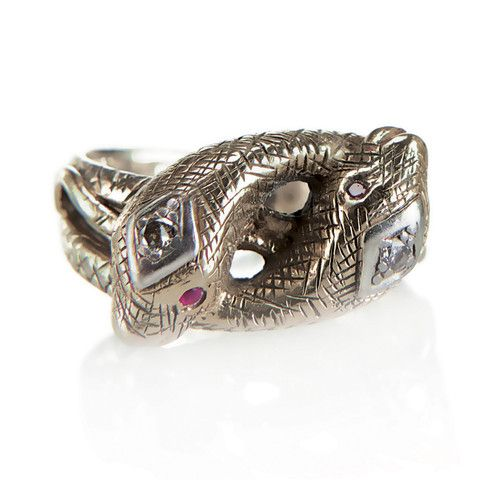 Two Intertwined Snakes Wrap Around Your Finger Available