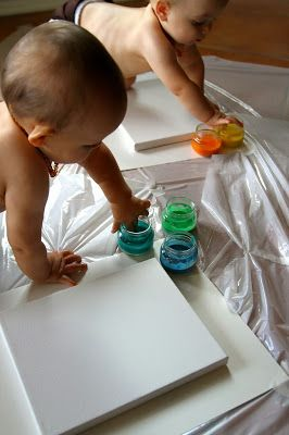 Flour Water And Food Coloring For Baby Safe Finger Paint Our