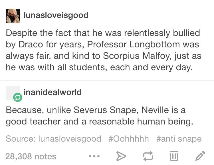 Neville Is The Best And Snape Is The Worst Teacher But Snape Is