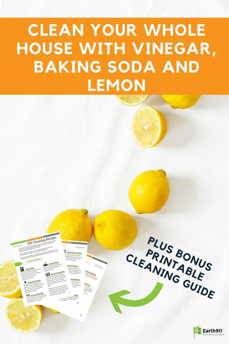 how to clean your house with vinegar and baking soda