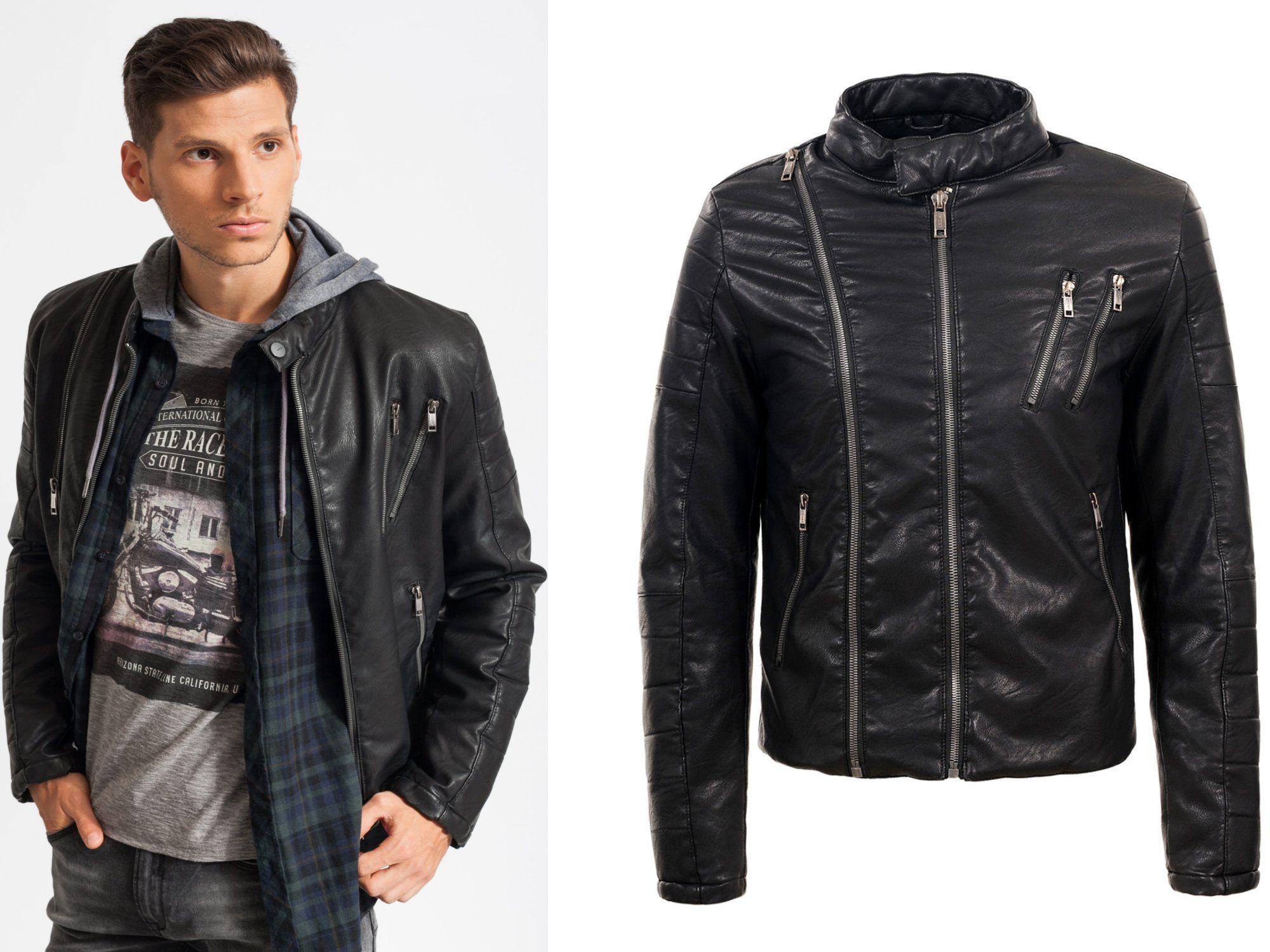 Kurtka Meska Skorzana Eko Skora Ocieplana Okazja M 6975998889 Oficjalne Archiwum Allegro Jackets Leather Jacket Leather