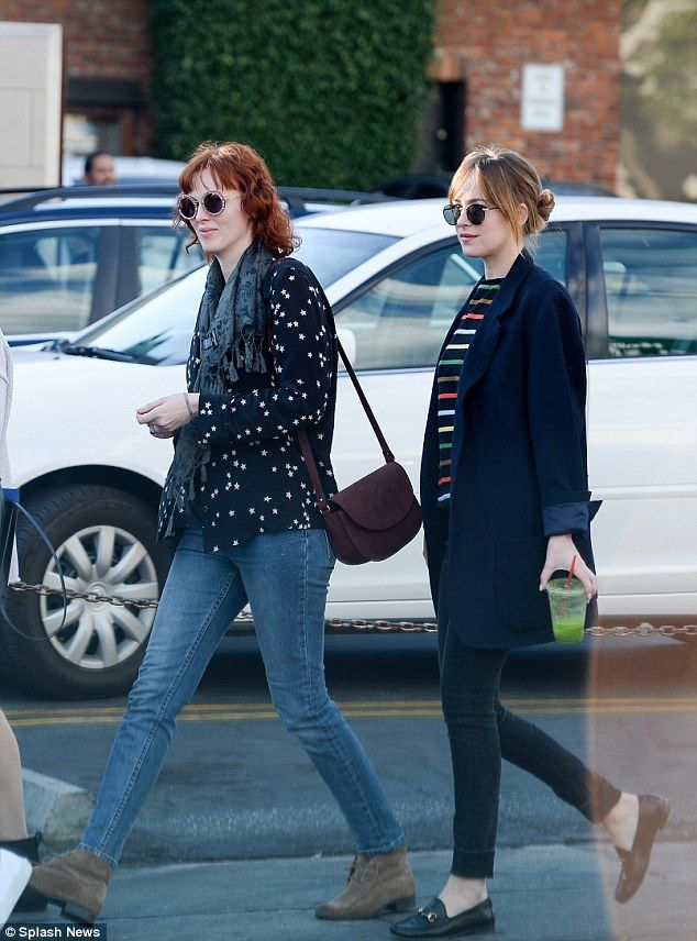 c7ac89ea451 freinds Dakota johnson and karen elson stepped out in hollywood on friday  for a late lunch together with pals