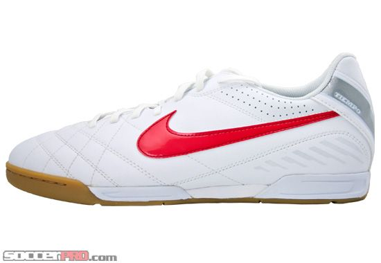 876127a7acba1 Nike Tiempo Natural IV Indoor Soccer Shoes - White with Red...$44.99 ...