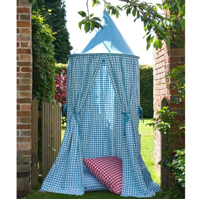 Pink/ Blue/ Red Hanging Play Tent by Win Green with Gingham Pattern & Pink/ Blue/ Red Hanging Play Tent by Win Green with Gingham ...