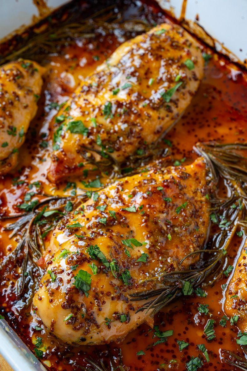 Easy Baked Honey Dijon Chicken