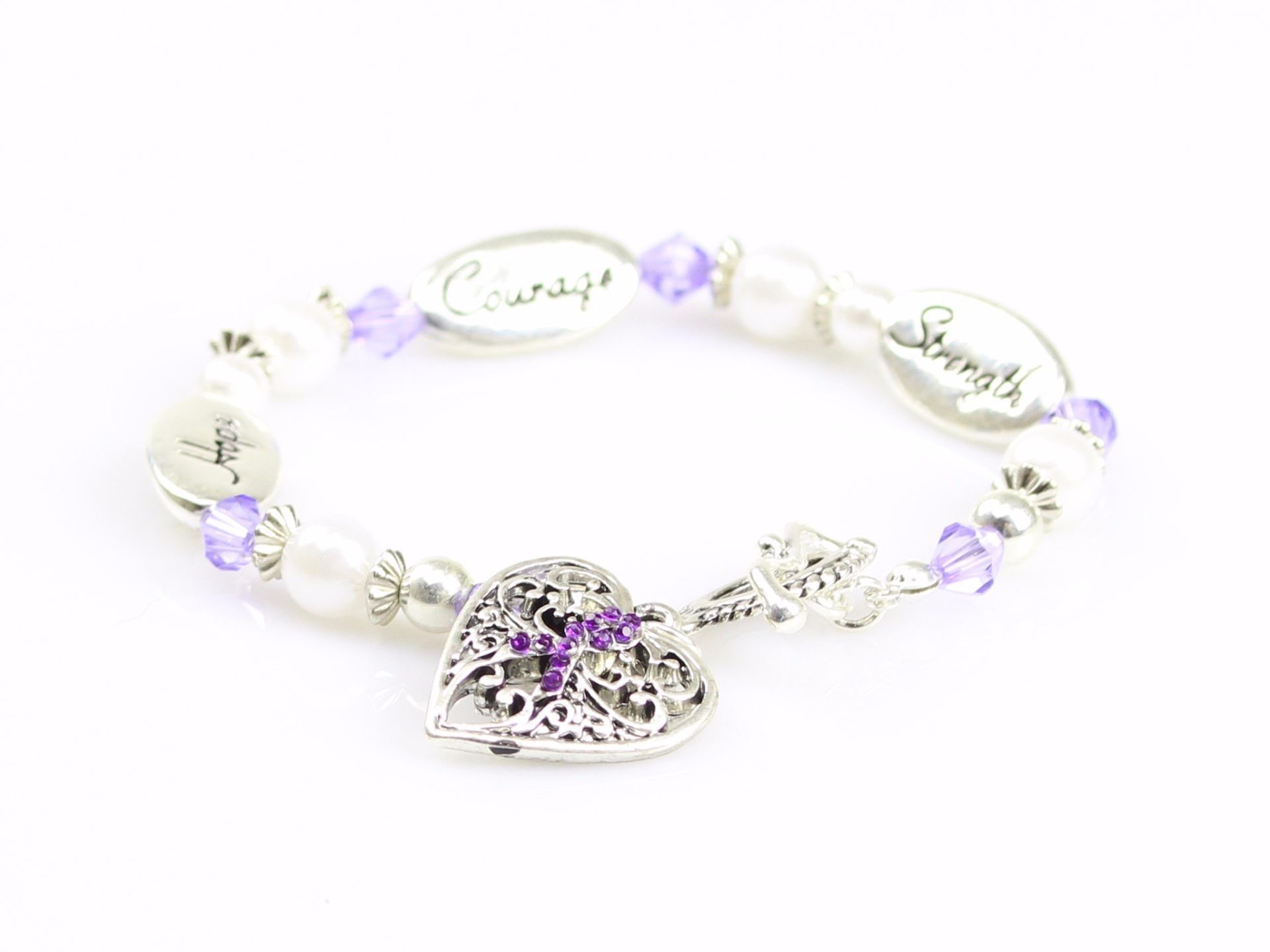 jewelry awareness bracelet elephant alzheimer com purple amazon diagnosis dp the medical alzheimers s alert