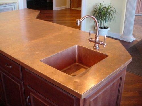 Arbeitsplatte design idee kupfer k che arbeitsplatte badezimmer und k che - Arbeitsplatte badezimmer ...