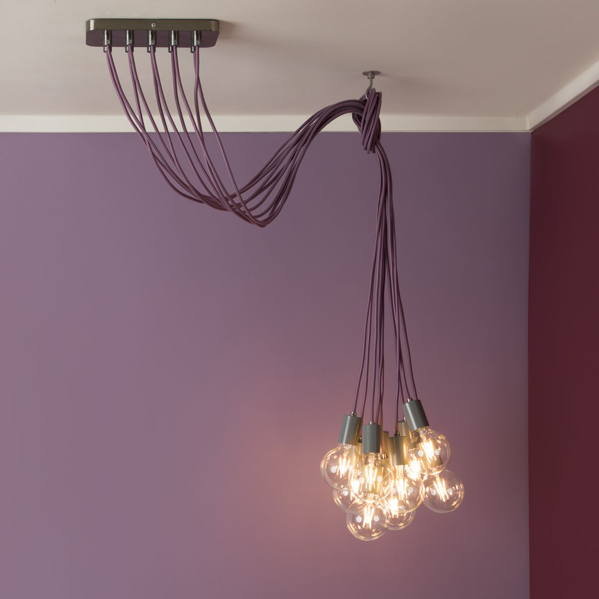 He Color Cord Company Conversion Kit 10 Port Ceiling Canopy Is Compatible With Any Of Our Fabric Wire Or Pen Pendant Light Cord Ceiling Canopy Cool Lighting
