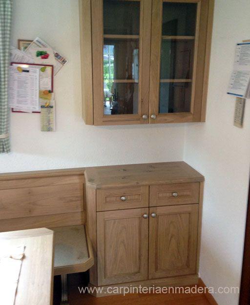 Mueble esquinero para cocina realizado por alpis carpinteria en madera muebles esquineros - Mueble cocina esquinero ...