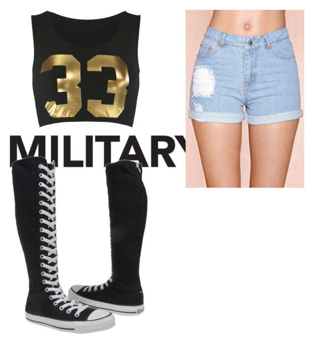 """Favorite. Love the converse."" by creepy1012 ❤ liked on Polyvore featuring Converse"