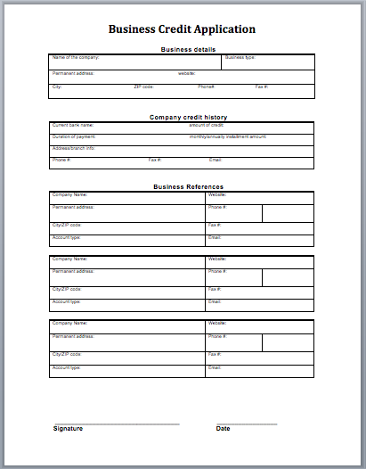 credit application blank form  u2014 rambler  images