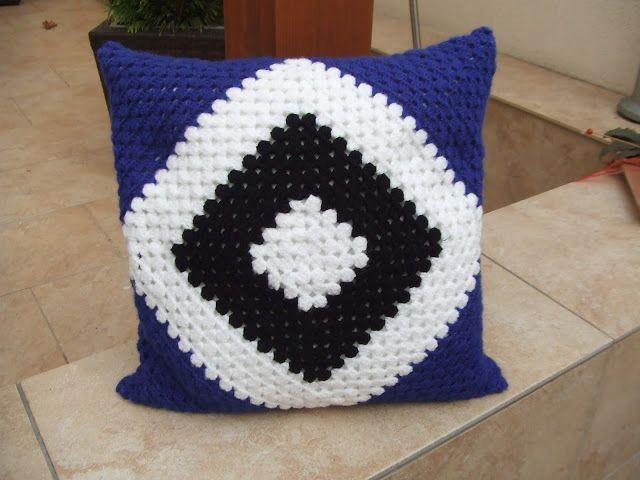 My world of crochet: HSV-Kissen! | Crochet | Pinterest | Hsv, Kissen ...