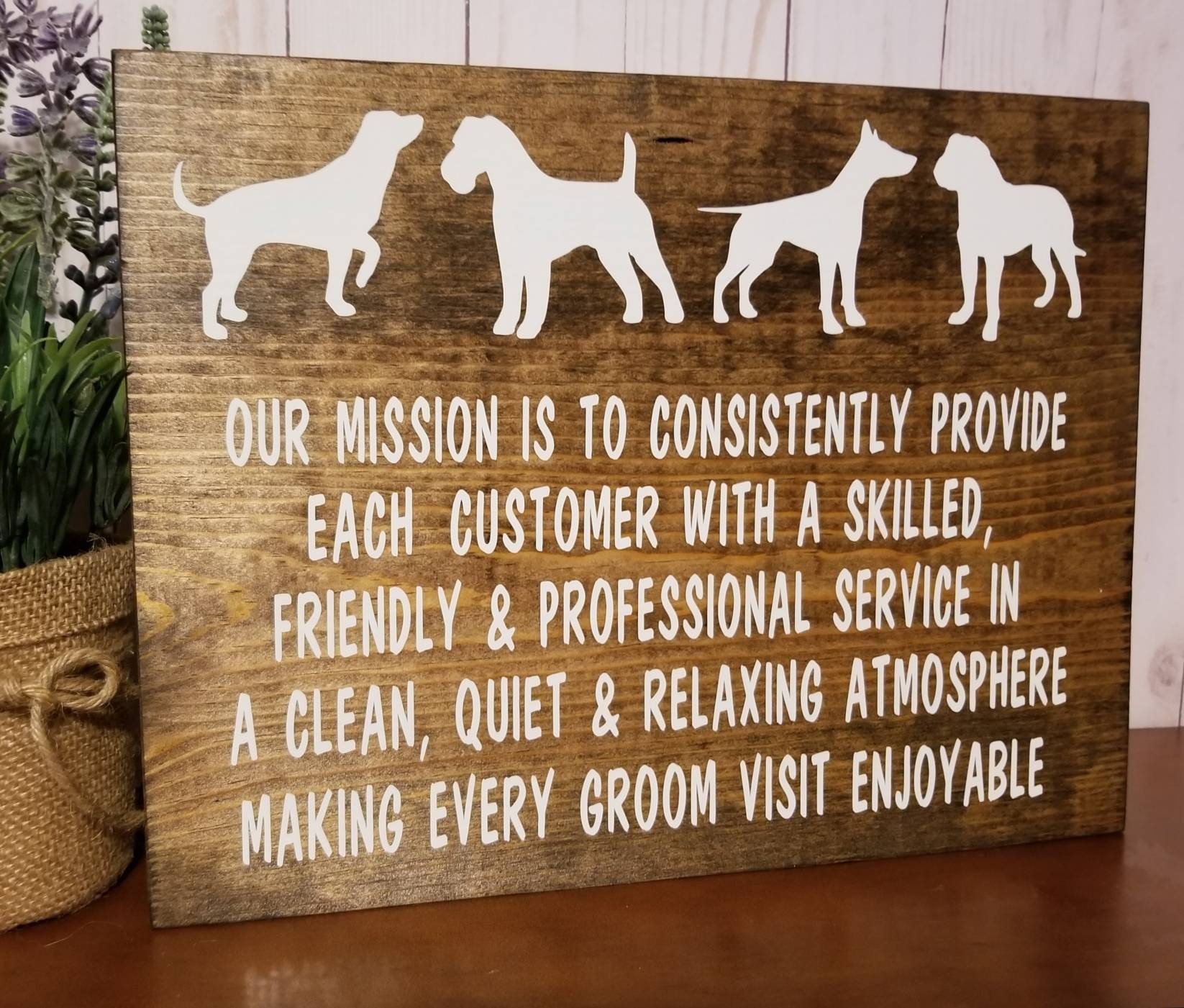 Dog Groomer Gift Grooming Business Marketing Sign Dog Etsy Dog Groomer Gifts Dog Grooming Salons Dog Grooming Shop