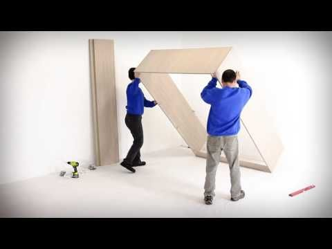 Wall Bed King Cabinet Assembly Instructions Youtube Wall Bed Cabinet Bed Murphy Bed