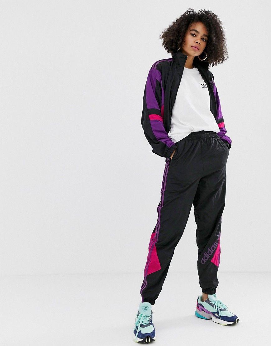 Jogginghose adidas sooo Retro Blockfarbendesign elastischer