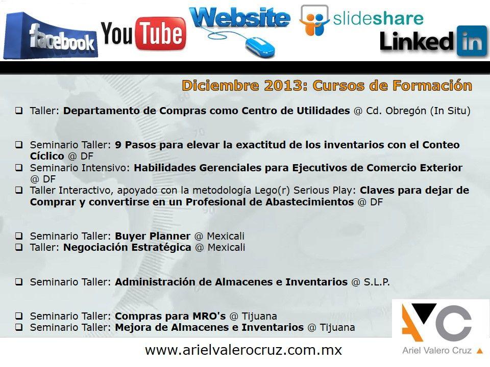 Calendario de Cursos de Formación: Diciembre 2013