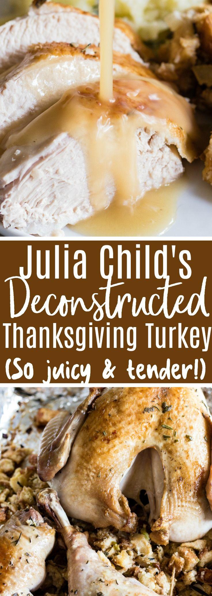Photo of Julia Child's Deconstructed Thanksgiving Turkey