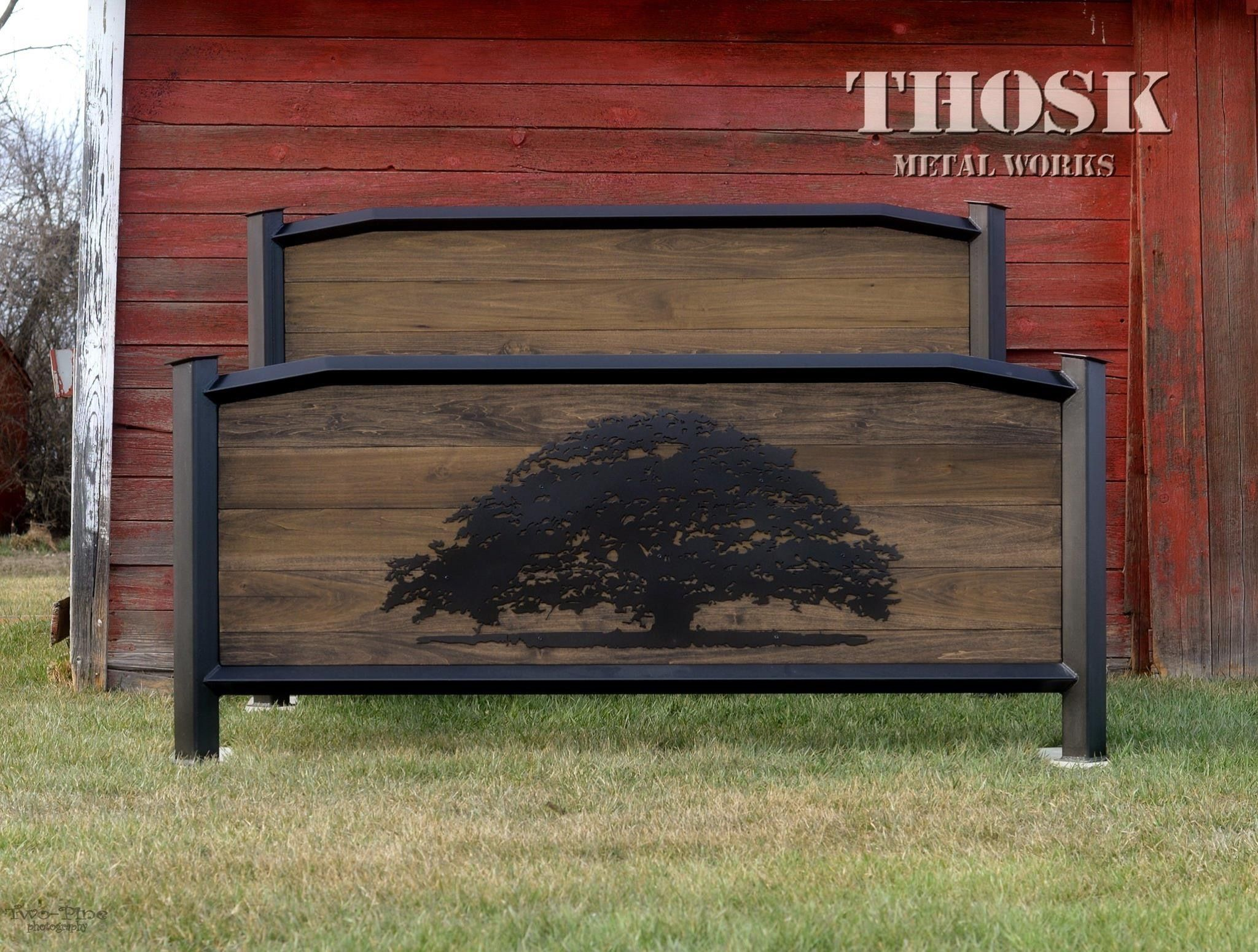 Custom King Size Bed Frame Made By Thosk Metal Works Industrial